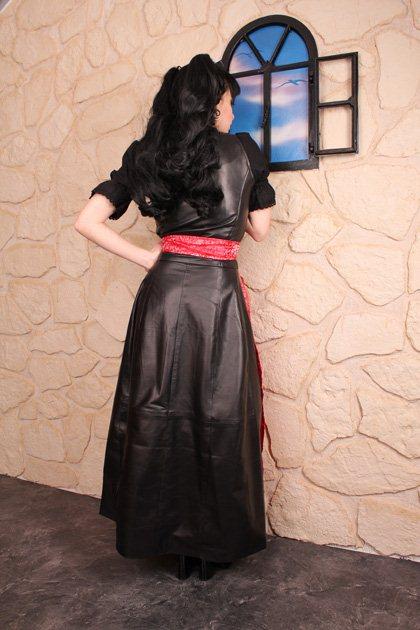 edles lederkleid leder kleid dirndl lederdirndl set 4 tlg gr e s 38 ebay. Black Bedroom Furniture Sets. Home Design Ideas